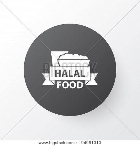 Halal Icon Symbol. Premium Quality Isolated Food  Element In Trendy Style.