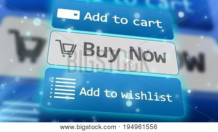 Concept Of Online Internet Shopping E-commerce.