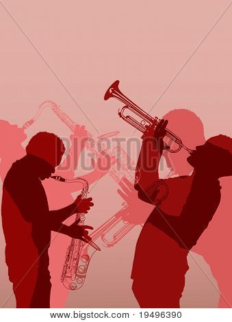 Vector illustration of jazz brass musician