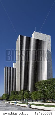 two building from the plaza in Albany