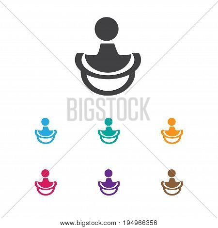Vector Illustration Of Baby Symbol On Soothers Icon. Premium Quality Isolated Nipple Element In Trendy Flat Style.