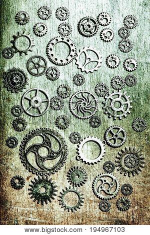 steampunk mechanical cogs gears wheels