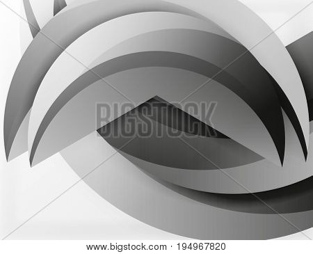 3D wave lines design. Dynamic effect abstract Illustration, modern pattern template