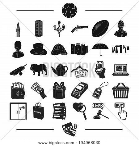 sport, travel, tourism and other  icon in black style., encoding, bank, trade icons in set collection