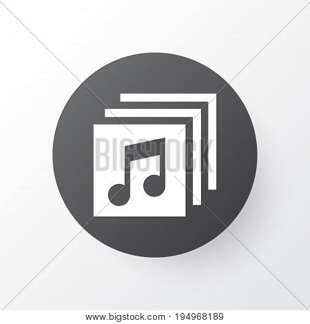 Albums Icon Symbol. Premium Quality Isolated Music Element In Trendy Style.