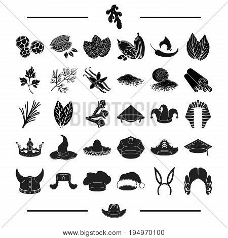 textiles, tailoring, history and other  icon in black style.professor, plants, condiments icons in set collection.