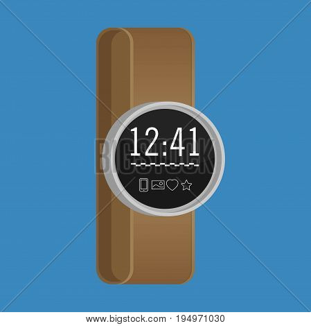Smartwatch wearable technology. Flat icon. EPS 10