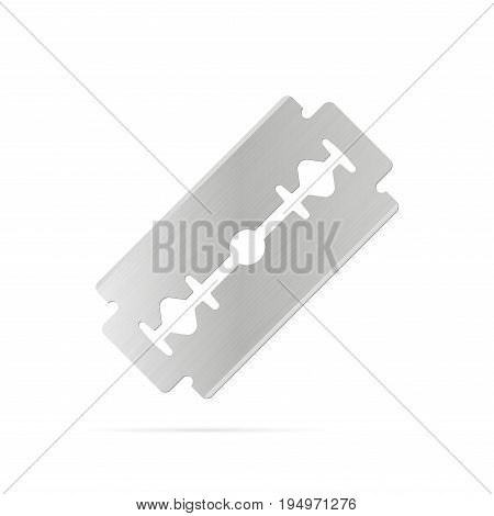 Razor Blade on White Background. Vector illustration