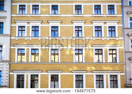 Facade Of A Beautiful Old House In Berlin Kreuzberg