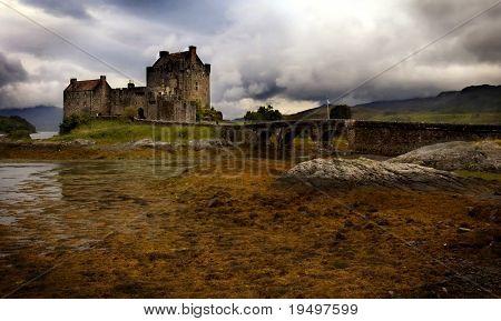 Mystic Eilean Donan Castle with lake Scotland
