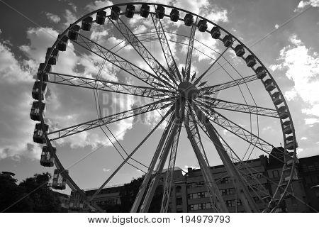 Ferris wheel, big wheel, Budapest eye, giant wheel