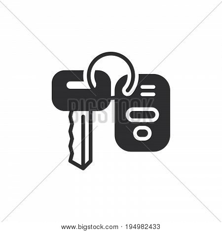 Car key icon vector filled flat sign solid pictogram isolated on white. Symbol logo illustration. Pixel perfect graphics