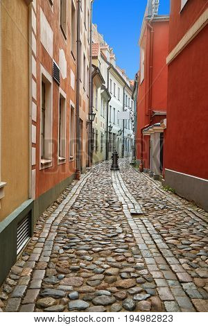 Small Street In Riga