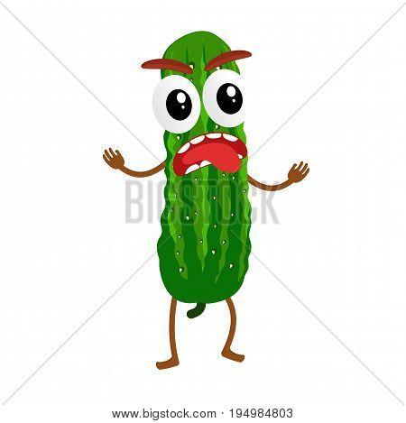 Cucumber Cartoon Illustration