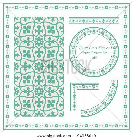 Vintage Border Pattern Of Curve Cross Vine Flower