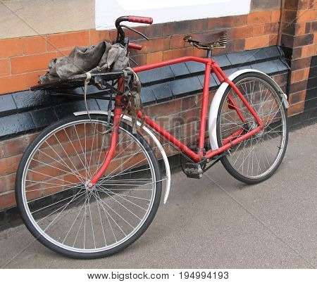 A Classic Old Time Postman Mail Delivery Bicycle.