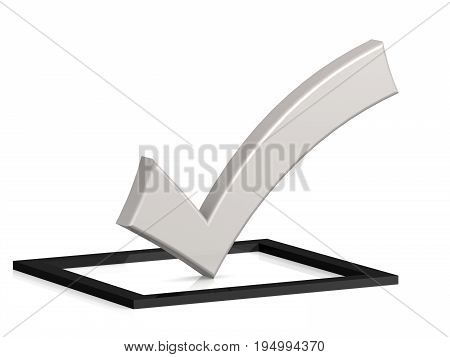 White Check Mark On Black Square