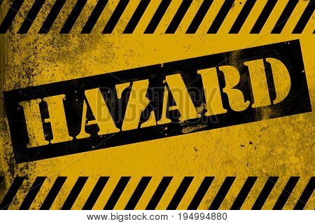 Hazard Sign Yellow With Stripes