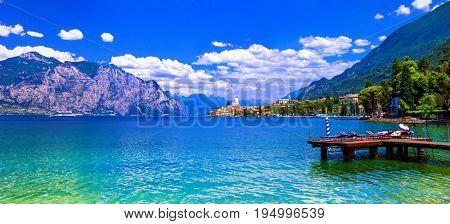 Lago di Garda - beautiful emerald lake in north of Italy