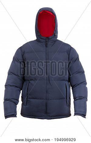 fashion male winter jacket isolated on white background