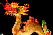 dragon at chinese lantern festival celebrating new years poster