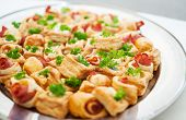 Delicacies and snacks at a buffet or Banquet. Catering. Selective focus poster