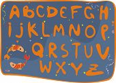 Alphabet for children in the style of a fairy tale. poster