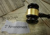 2nd Amendment news headline on a copy of the US Constitution poster