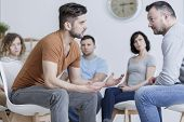 Role playing method during group psychotherapy session poster