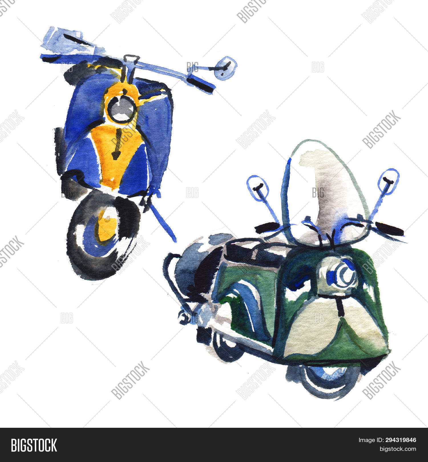Vintage Scooter Image Photo Free Trial Bigstock
