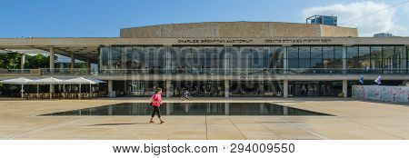 Tel Aviv, Israel May 19. 2016 Charles Bronfman Auditorium. It Was Opened In 1957 For The Israeli Phi