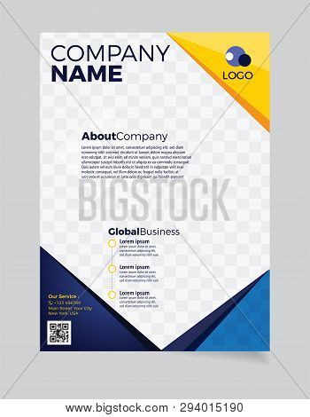 Brochure Business template simple Modern Design and elegant_business brochure template 04