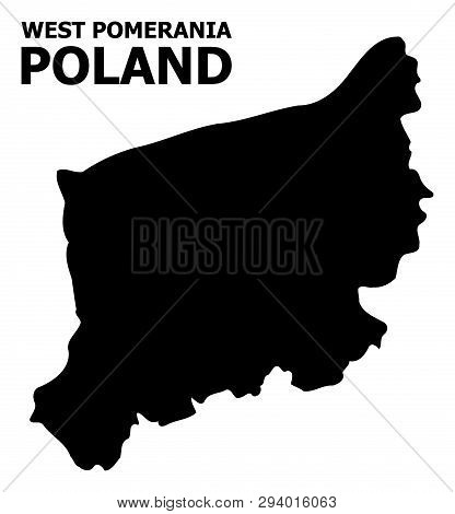 Vector Map Of West Pomerania Province With Title. Map Of West Pomerania Province Is Isolated On A Wh