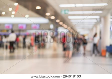 Abstract Blurred Image Of Passenger In The Airport