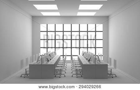 Office Interior. 3d Illustration, Office Interior. 3d Illustration  Modern Interior 3d.