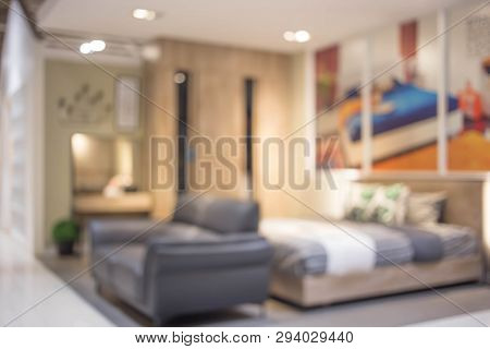 Defocus Background Of Bedroom Interior 3d For Background