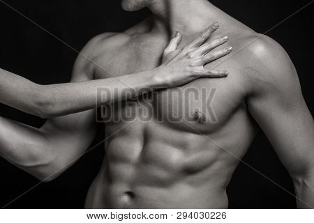 Sexy Man, Naked Body, Nude Male. Strong Mans, Bodybuilder, Muscular Men. Sexy Body, Nude Man. Athlet