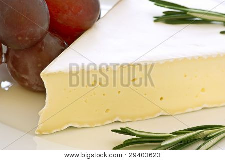 Camembert with red Grapes