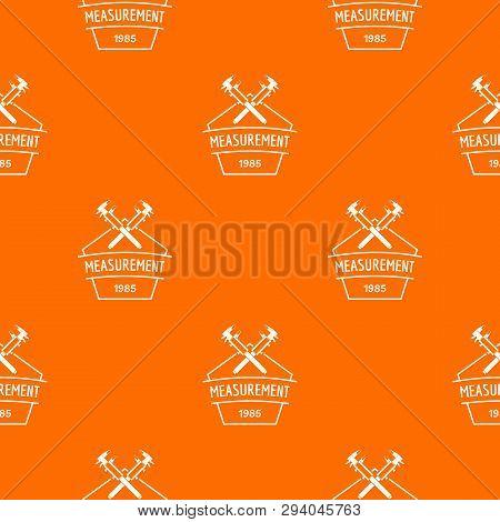 Vernier Caliper Pattern Vector Orange For Any Web Design Best