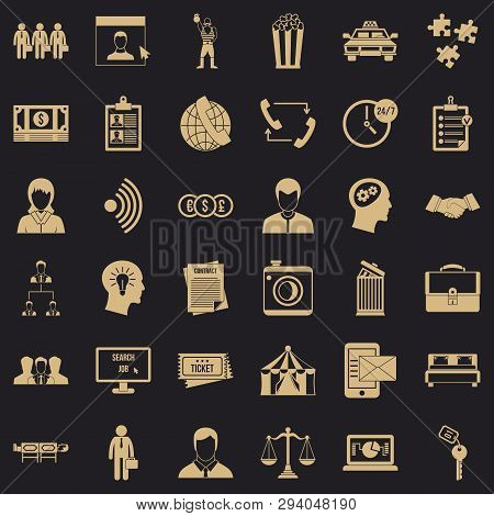 poster of Conformity icons set. Simple style of 36 conformity vector icons for web for any design