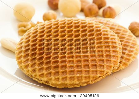 Stroopwafel with Nuts poster