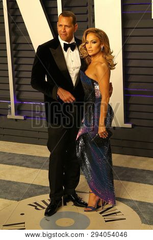 LOS ANGELES - FEB 24:  Jennifer Lopez, Alex Rodriguez at the 2019 Vanity Fair Oscar Party on the Wallis Annenberg Center for the Performing Arts on February 24, 2019 in Beverly Hills,