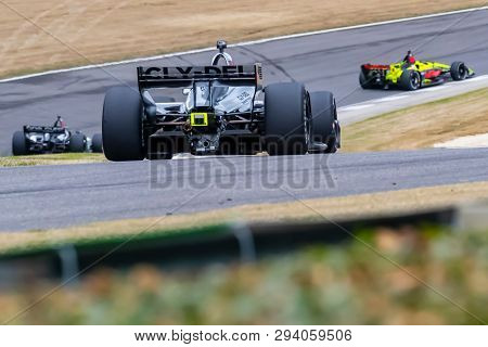 April 05, 2019 - Birmingham, Alabama, USA: SANTINO FERRUCCI (R) (19) of the United States goes through the turns during practice for the Honda Indy Grand Prix of Alabama at Barber Motorsports Park in