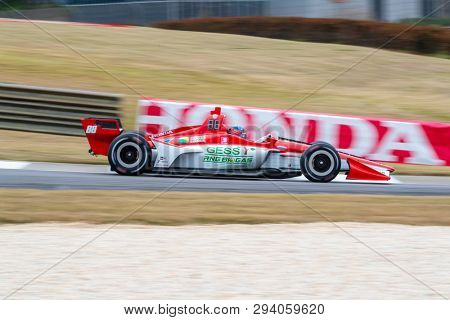 April 05, 2019 - Birmingham, Alabama, USA: COLTON HERTA (R) (88) of The United States goes through the turns during practice for the Honda Indy Grand Prix of Alabama at Barber Motorsports Park in Birm