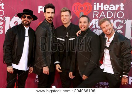 LOS ANGELES - MAR 14:  Backstreet Boys at the iHeart Radio Music Awards - Arrivals at the Microsoft Theater on March 14, 2019 in Los Angeles, CA