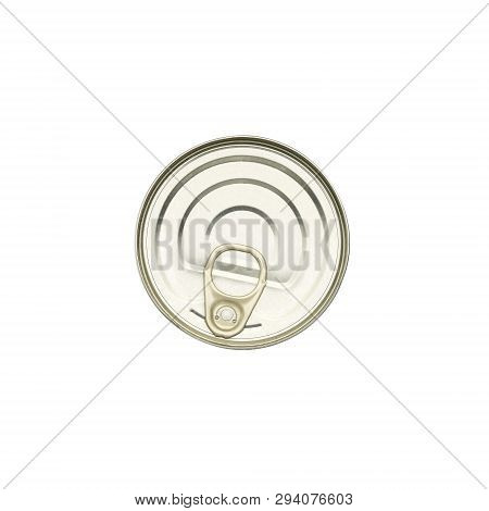 Top View Of A Food Can, Isolated On White