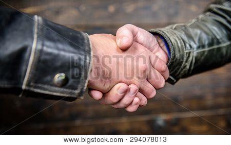 Handshake Friendly Gesture. Handshake Gesture Concept. Partnership And Business Deal. Successful Dea
