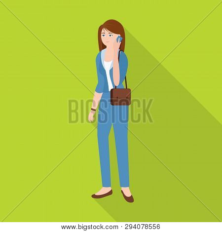 Vector Illustration Of Woman  And Business Symbol. Set Of Woman  And Businessperson Vector Icon For