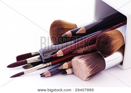 Make up brushes poster