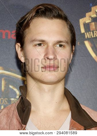 Ansel Elgort at the 2019 CinemaCon - Warner Bros. Pictures 'The Big Picture' Presentation held at the Caesars Palace in Las Vegas, USA on April 2, 2019.